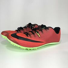 New! Nike Zoom 400 Running Track Spikes Red Black AA1205-663 Sz 12.5