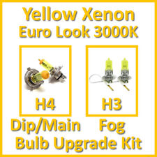 Warm White 3000K Yellow Xenon Headlight Bulb Set Main Dip Fog H4 H3 Kit