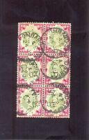 GRAN BRETAÑA YT 1887-1900  Nº104 BLOQUE USADO