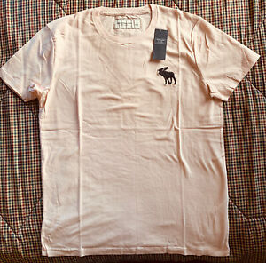 *NWT* A&F Abercrombie and Fitch Light Pink Exploded Icon Short-Sleeve Logo Tee S