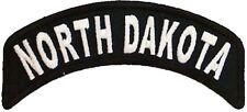 BRAND NEW NORTH DAKOTA STATE ROCKER BIKER IRON ON PATCH
