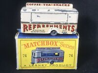 Matchbox Lesney 74 A4 Mobile Refreshment Canteen *HTF Cream & D2 Box