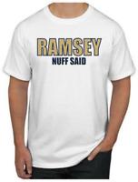 Jalen Ramsey T-Shirt - RAMSEY NUFF SAID Los Angeles Rams NFL Uniform Jersey #20