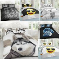 Luxurious 3D Effect Animals and Emojis Duvet Covers Bedding Sets by Laura Secret