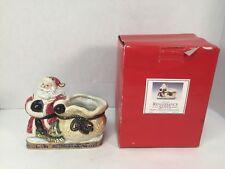 Fitz and Floyd Renaissance Santa Candy Jar Bowl Christmas Omnibus