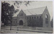 1908 Photo Postcard Wilde Memorial Library Action Massachusetts