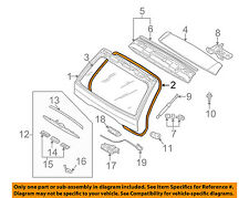 BMW OEM 00-06 X5 Lift Gate-Weatherstrip Seal 51718403231