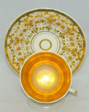 Antique KPM Teacup & Saucer Heavy gold Chintz patterned Tea Cup Germany