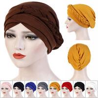 Hair Loss Head Scarf Head Wrap Cancer Chemo Hat Women Turban Cap Muslim Braid