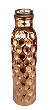 New Diamond Cut Design Pure Copper Water Bottle Daily Use Water Bottle 950 ML