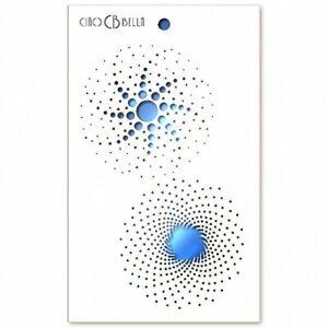 "Ciao Bella - Stencil Art - 8.5"" x 5"" Texture Stencil - Galaxy - Rotate"