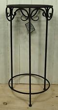 Runder Metall Blumenhocker Pflanzenhocker dunkelbraun 70x32,5cm Landhausstil