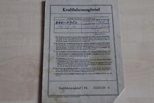 161701) Ford Taunus 12 M KFZ-Brief 06/1954