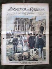 La Domenica del Corriere 23 Aprile 1905 Taormina Gen. De Sonnaz Merry del Val