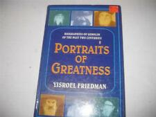 Portraits of Greatness by Yisroel Friedman  BIOGRAPHIES OF GEDOLIM