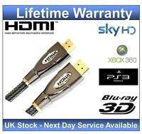 Premium HDMI Cable lead v1.4 1m 2m 3m 5m 7m 10m Gold 1080p 3D Video HDTV sky HD
