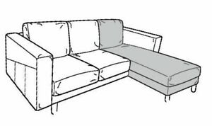 NEW IKEA NORSBORG COVER ONLY FOR CHAISE LONGUE IN GRASBO BEIGE - 403.826.53