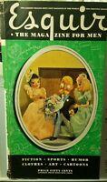 SEXY ART Men Women WEDDING MARRIAGE 1941 AMERICANA Esquire Original COVER ART