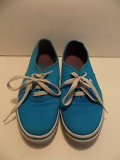 Girl's Vans Classic Blue Canvas Sneakers US Youth Size 3