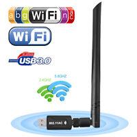 Adaptateur USB WiFi Dongle 1200Mbps réseau sans fil antenne ordinateur portable