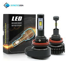 2x H11 High Power CSP LED Headlight Kit 200W 20000LM Low Beam Adjustable Angle
