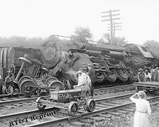 Photograph of a Locomotive Train Wreck Year 1922  8x10