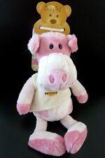 w8- DOUDOU BABY NAT babynat' COCHON ROSE TEE SHIRT ECRU JAUNE 24 cms - NEUF
