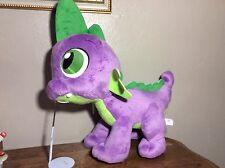 "Rare Large 18"" My Little Pony SPIKE Hasbro Purple Green Dragon Plush MLP G4"