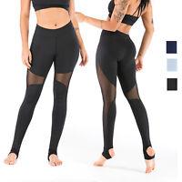 Women's Sports Legging Mesh Tummy Control Yoga High Waist Skinny Athletic Pants