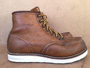 RED WING Heritage 875 Brown Moc Toe Classic Boots Size US 7 D UK 6 EU 39