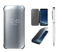 Samsung S8 Plus S8+ Luxury Mirror Smart View Flip Hard Back Book Wallet Case