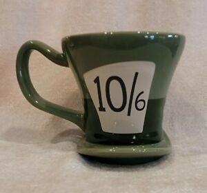 Disney Alice In Wonderland Mad Hatter Green Hat Shaped 10/6 Mug