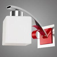 Moderne Wandlampe ATRATO / Design Wandleuchte / Rot und Silber Farbversion