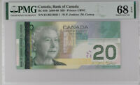 Canada 20 Dollars 2004 / 2009 P 103 f Superb GEM UNC PMG 68 EPQ TOP