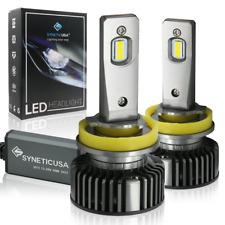 New Syneticusa H11 LED Headlight Fog Light Bulbs Kit Hi Low Beam 6000k White
