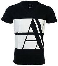 Armani Exchange Mens S/S T-Shirt BOLD STRIPED Designer NAVY Casual S-2XL $45