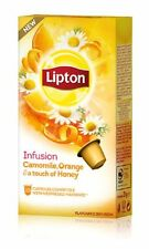 LIPTON Nespresso TEA 80 X Capsules /Pods/Caps (8 X Boxes ) Camomile Orange Honey