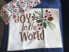 2 Lovely Christmas Holiday Hand Towels-26�x16�-Brand New-Gift!