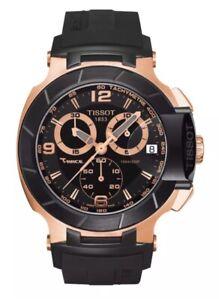 New Tissot T-Race Black Rubber RG Chronograph T048.417.27.057.06 Watch