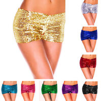 Women's Sexy Metallic Sequins Clubwear Party Stretch Shorts Hot Pants Boyshorts