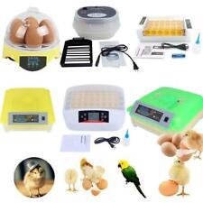 New listing 7/9/12/24/32/36/48/56/9 6/112 eggs Incubator Hatcher Temperature Auto Turning Us