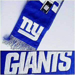 New York Giants Big Blue Warm Scarf Printed Big Logo Winter Neck Football Team