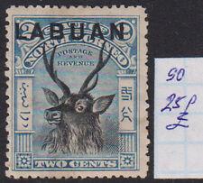 LABUAN 1897 2c Deer Blue SG #90 - 25 GBP MH* Scarce & Rare!