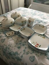 Stunning Large Set Of Melamine Tableware.