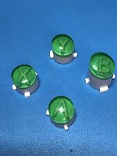 NEW XBOX ONE 1 CUSTOM MOD ABXY W/LETTERS REPLACEMENT BUTTON SET KIT (GREEN)
