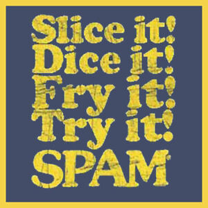 Spam Chopped Meat 19405 50s 60s 70s 80s Retro Funny Advert War Tinned Tshirt
