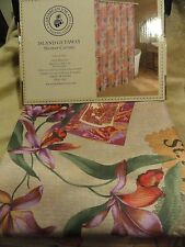 new Colorful TROPICAL Island Getaway~CARIBBEAN JOE Flower Fabric SHOWER CURTAIN