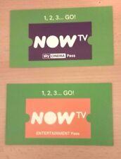 Now TV code Bon d'achat-un abonnement Entertainment Pass de 2 mois & 1 mois cinéma film Pass