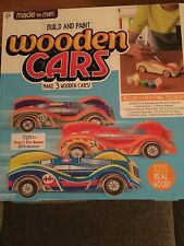 Made By Me Build & Paint Your Own Wooden Cars by Horizon Group Usa