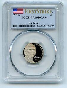 2021 S 5C Jefferson Nickel Birth Set PCGS PR69DCAM First Strike